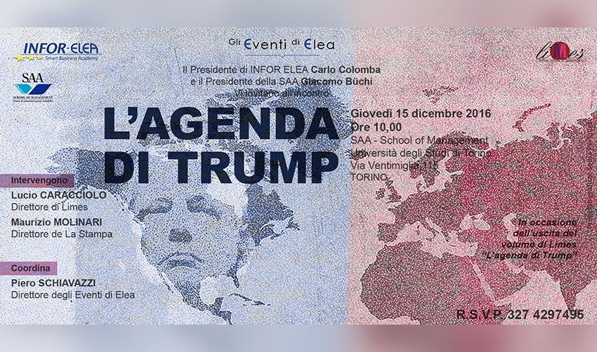 15 dicembre 2016 – Evento Elea – Torino – L'Agenda di Trump