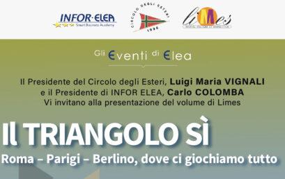 28 maggio 2021 – Evento Elea – Roma – Il Triangolo Sì